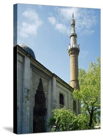 Turkey. Bursa. Yesil Mosque. Ottoman Style. 15th Century. Outside. View--Stretched Canvas Print