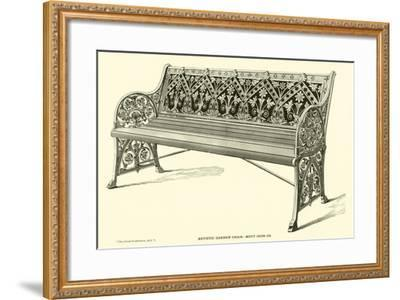 Artistic Garden Chair, Mott Iron Company--Framed Giclee Print