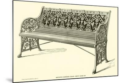 Artistic Garden Chair, Mott Iron Company--Mounted Giclee Print