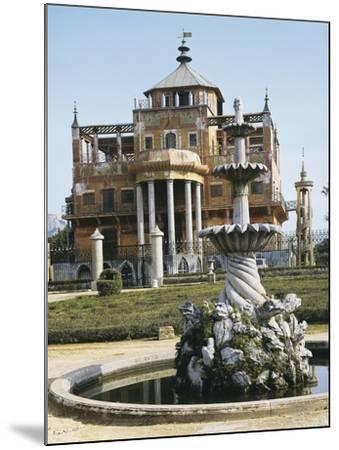 Close-Up of a Fountain in Front of a Palace, Chinese Palace, Palermo, Sicily, Italy--Mounted Photographic Print
