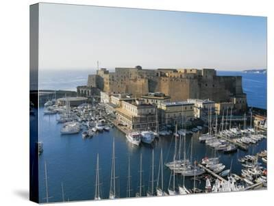 Castel Dell'Ovo (Egg Castle) and St Lucia Port, Naples, Campania, Italy--Stretched Canvas Print