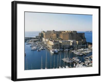 Castel Dell'Ovo (Egg Castle) and St Lucia Port, Naples, Campania, Italy--Framed Photographic Print