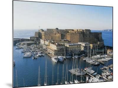 Castel Dell'Ovo (Egg Castle) and St Lucia Port, Naples, Campania, Italy--Mounted Photographic Print