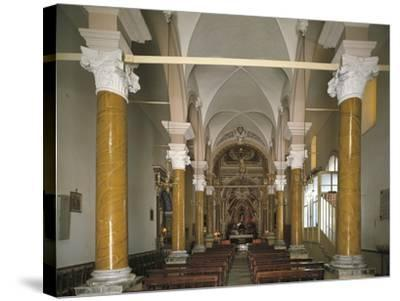 Interiors of a Church, Church of San Calogero, Agrigento, Sicily, Italy--Stretched Canvas Print
