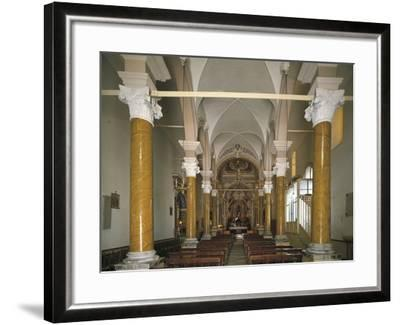 Interiors of a Church, Church of San Calogero, Agrigento, Sicily, Italy--Framed Photographic Print