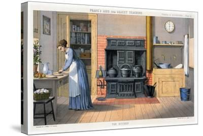Prang's Aids for Object Teaching - the Kitchen, 1874--Stretched Canvas Print
