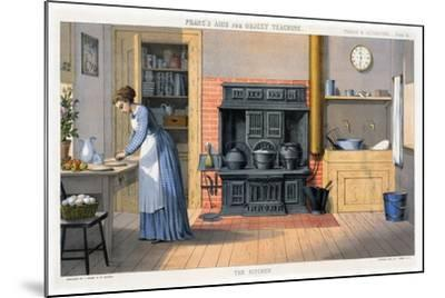 Prang's Aids for Object Teaching - the Kitchen, 1874--Mounted Giclee Print