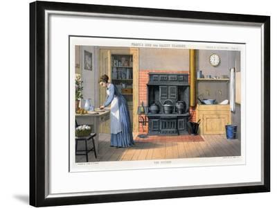 Prang's Aids for Object Teaching - the Kitchen, 1874--Framed Giclee Print
