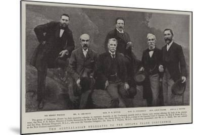 The Australasian Delegates to the Ottawa Trade Conference--Mounted Giclee Print