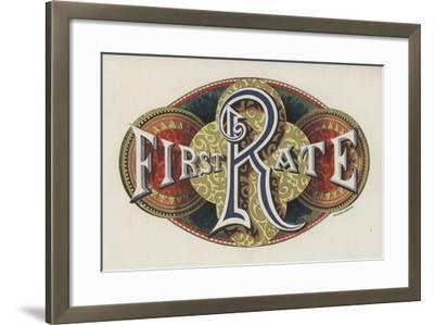 Sign Saying First Rate--Framed Giclee Print