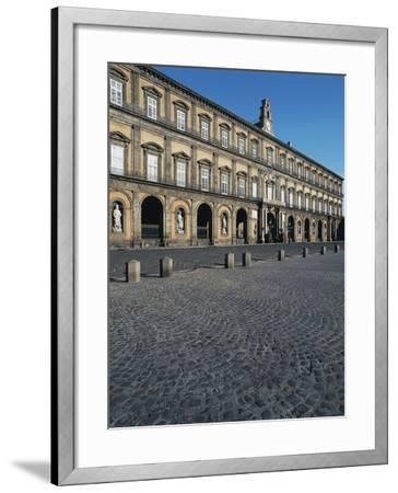 Facade of the Royal Palace, 17th Century, Square of the Plebiscite, Naples, Campania, Italy--Framed Photographic Print