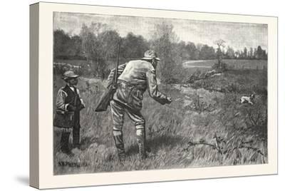 Gun Shy Drawn A. B. Frost, 1880, USA--Stretched Canvas Print
