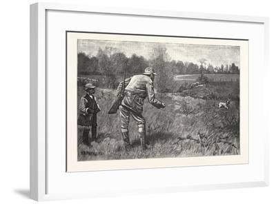 Gun Shy Drawn A. B. Frost, 1880, USA--Framed Giclee Print
