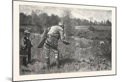 Gun Shy Drawn A. B. Frost, 1880, USA--Mounted Giclee Print