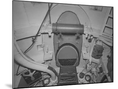 The Torpedo Loading Hatch in the after Torpedo Room on the Captured German Submarine U505--Mounted Photographic Print