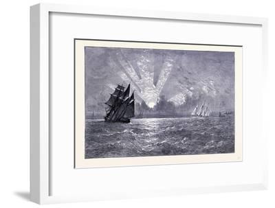 Sunset on Lake Michigan United States of America--Framed Giclee Print