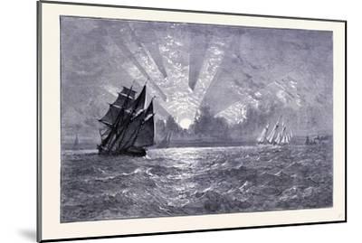 Sunset on Lake Michigan United States of America--Mounted Giclee Print