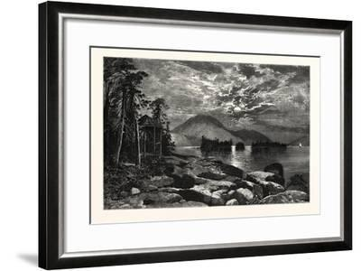 View from Fourteen-Mile Island, Lake George, USA--Framed Giclee Print