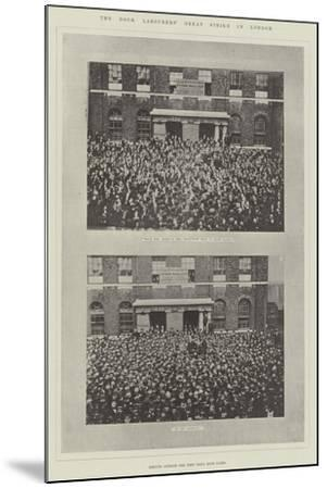 The Dock Labourers' Great Strike in London--Mounted Giclee Print