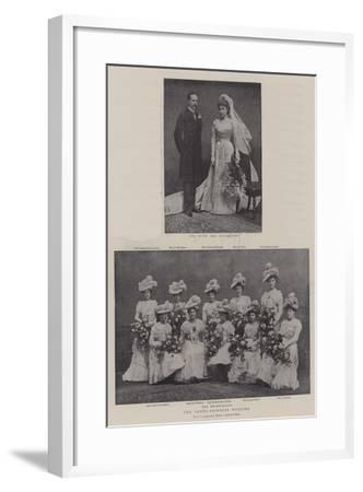 The Crewe-Primrose Wedding--Framed Giclee Print