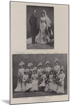 The Crewe-Primrose Wedding--Mounted Giclee Print