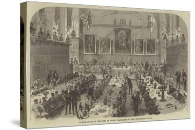 Dinner Given by the Inns of Court Volunteers to the Universities Corps--Stretched Canvas Print