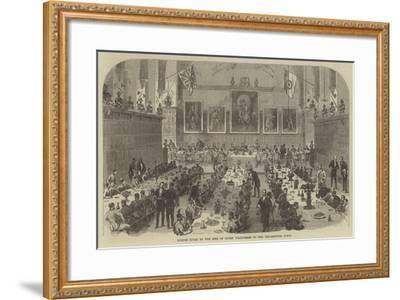 Dinner Given by the Inns of Court Volunteers to the Universities Corps--Framed Giclee Print