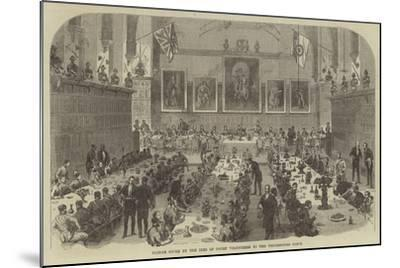 Dinner Given by the Inns of Court Volunteers to the Universities Corps--Mounted Giclee Print