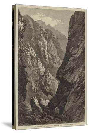 The Abyssinian Expedition, the Middle Sooroo Defile in the Senafe Pass--Stretched Canvas Print