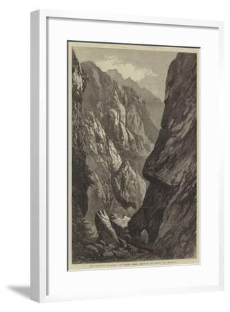 The Abyssinian Expedition, the Middle Sooroo Defile in the Senafe Pass--Framed Giclee Print