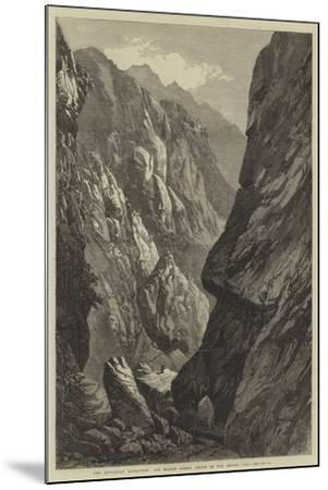 The Abyssinian Expedition, the Middle Sooroo Defile in the Senafe Pass--Mounted Giclee Print