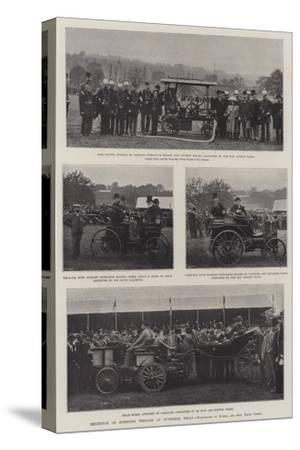 Exhibition of Horseless Vehicles at Tunbridge Wells--Stretched Canvas Print