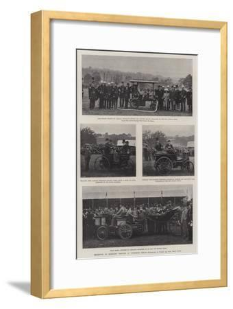 Exhibition of Horseless Vehicles at Tunbridge Wells--Framed Giclee Print