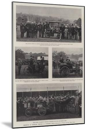 Exhibition of Horseless Vehicles at Tunbridge Wells--Mounted Giclee Print