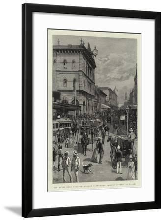 Our Australian Colonies, George Street, the Regent Street of Sydney--Framed Giclee Print