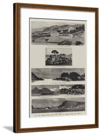 The War Between France and China, Views at Foochow, Amoy, and Formosa--Framed Giclee Print