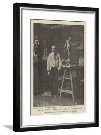 Mr E Onslow Ford, New Royal Academician--Framed Giclee Print