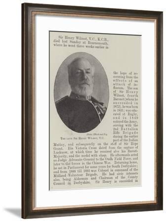 The Late Sir Henry Wilmot--Framed Giclee Print