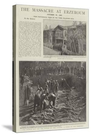 The Massacre at Erzeroum--Stretched Canvas Print