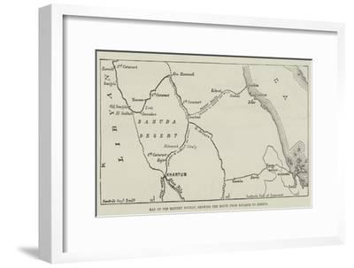 Map of the Eastern Soudan, Showing the Route from Souakim to Berber--Framed Giclee Print
