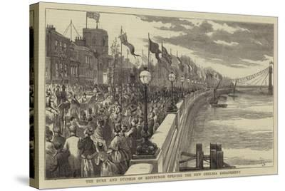 The Duke and Duchees of Edinburgh Opening the New Chelsea Embankment--Stretched Canvas Print