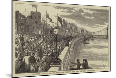 The Duke and Duchees of Edinburgh Opening the New Chelsea Embankment--Mounted Giclee Print