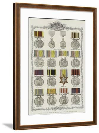 British Awards for Valour on Sea and Land During the Last Fifty Years--Framed Giclee Print