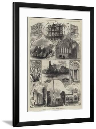 Hereford and Ludlow, Visited by the Royal Archaeological Institute--Framed Giclee Print