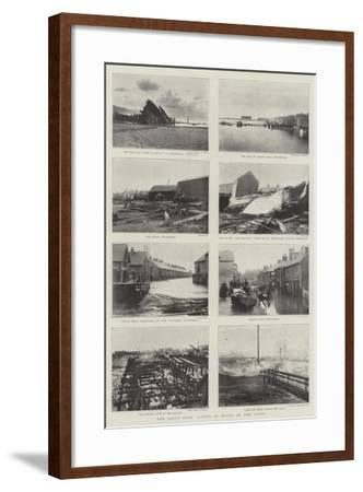 The Great Gale, Scenes of Havoc on the Coast--Framed Giclee Print