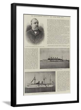 The Anglo-American Difficulty, the United States Navy--Framed Giclee Print