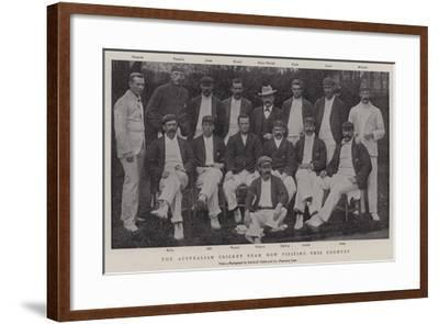 The Australian Cricket Team Now Visiting This Country--Framed Giclee Print