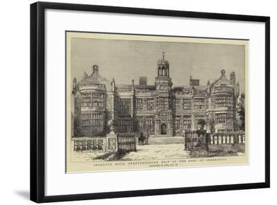 Ingestre Hall, Staffordshire, Seat of the Earl of Shrewsbury--Framed Giclee Print