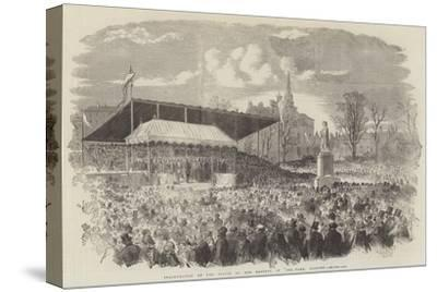 Inauguration of the Statue of Her Majesty, in Peel-Park, Salford--Stretched Canvas Print