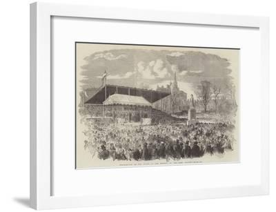 Inauguration of the Statue of Her Majesty, in Peel-Park, Salford--Framed Giclee Print
